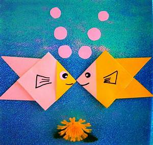 Origami Maniacs  Easy Origami Fish For Little Kids