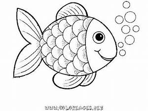 preschool rainbow fish coloring sheet to print for free With rainbow fish colouring template