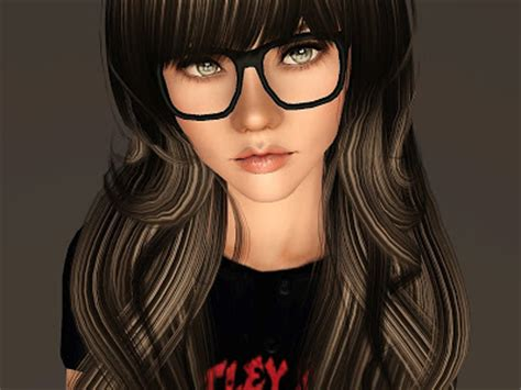 empire sims  nerdy glasses  ins  place