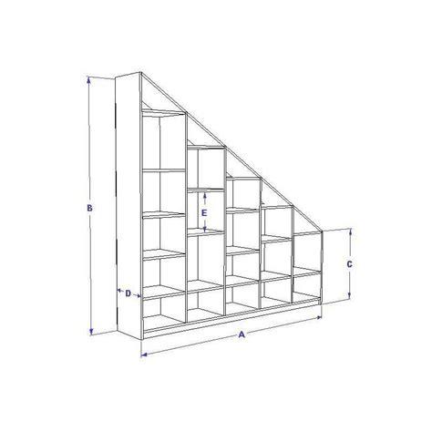 etagere sous pente etag 232 re sur mesure sans fond pour soupente