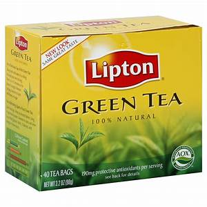 Lipton Tea Bags, Green Tea 40 tea bags [3.2 oz (90 g)]