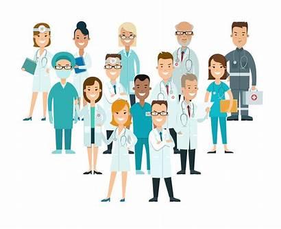 Team Medical Doctors Flat Cartoon Health Male