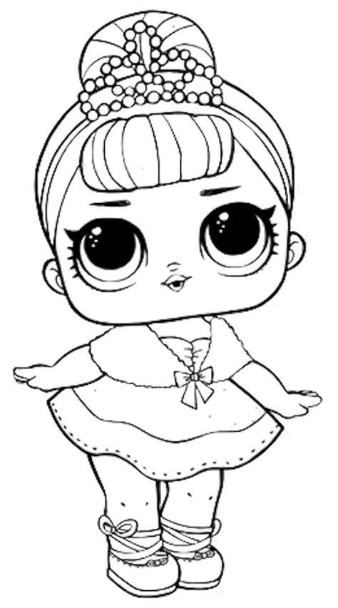 coloring pages  lol surprise dolls  pieces  black  white pictures