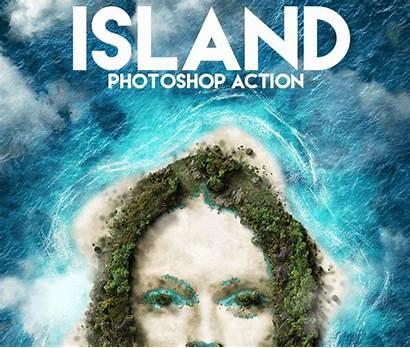 Island Photoshop Beach Action Paradise Sandy Creator