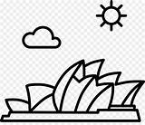 Opera Sydney Clipart Coloring Australia Drawing Clip Pages Getcolorings Printable Print Webstockreview sketch template