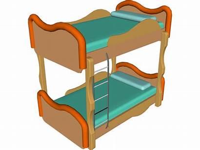 Bed Clipart Animated Bunk Beds Door Sleeping
