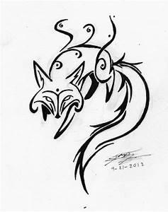 Tribal Fox by EmeraldRainDragon on DeviantArt