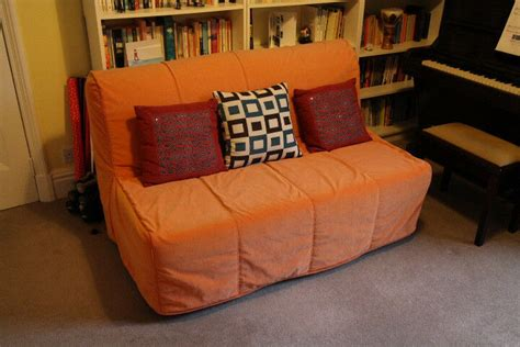 Ikea Lycksele Havet Sofa Bed With Orange Cover, In