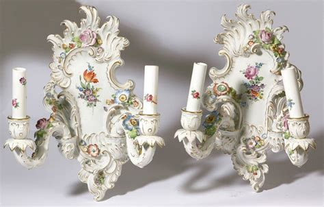 capodimonte l shades for sale pair of schierholz porcelain wall sconces