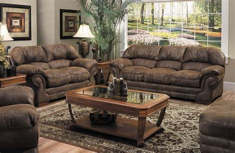 Microfiber And Loveseat Sets by Tobacco Specially Treated Microfiber Sofa And Loveseat Set