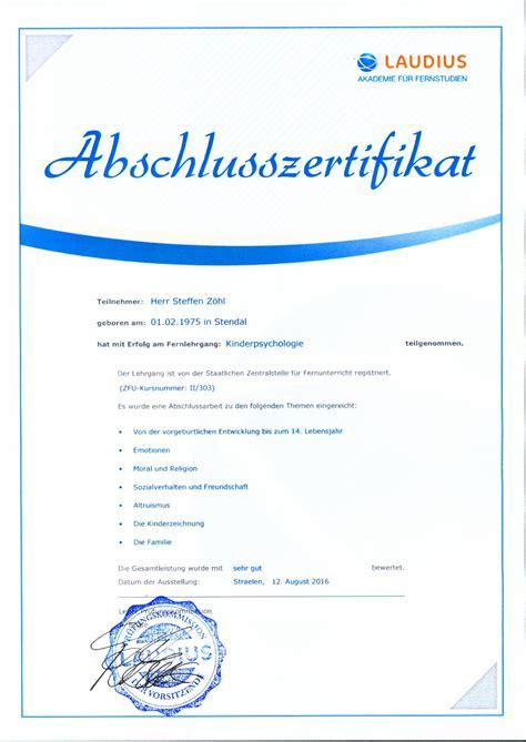 zertifikate und ausbildungen derzuhoerer