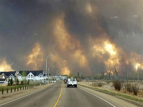 fort mcmurray wildfire  alberta canada forces evacuation