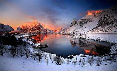 Norway Winter Nature Landscape Wallpapers Desktop Backgrounds