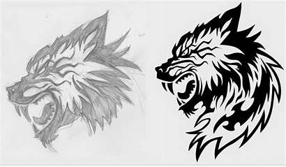 Wolf Ninja Howling Costume Dire Sketch Profile