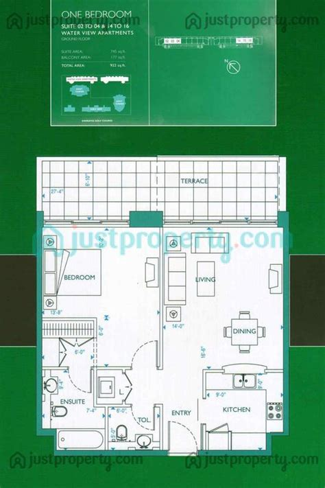 water view apartments floor plans justpropertycom