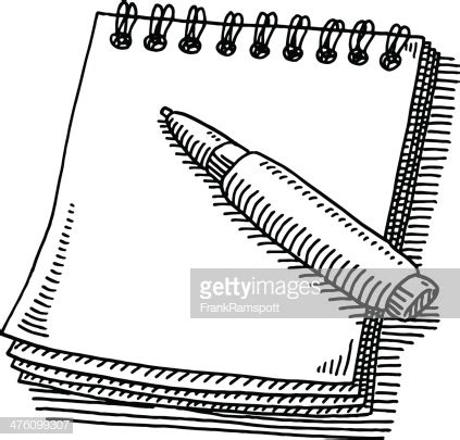 notepad  drawing vector art getty images