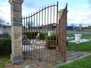 Portail Fer Forgé Plein : portail fer forg ancien cr ation sur mesure bca ~ Dailycaller-alerts.com Idées de Décoration