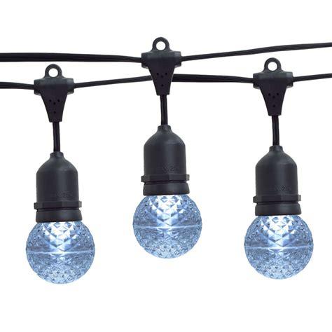 21 ft cool white g50 led globe light strand suspended