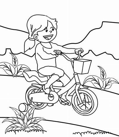Bermain Gambar Mewarnai Anak Sepeda Coloring Riding