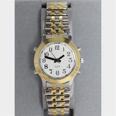 montre parlante bicolore femme bracelet extensible cflou