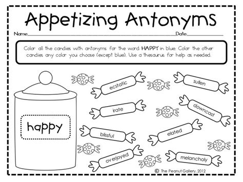 10 best images of opposite word worksheets first grade