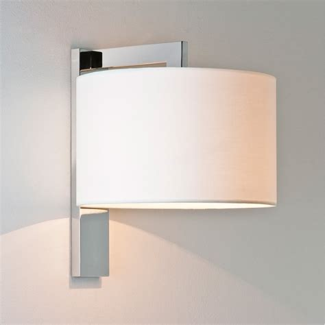 contemporary wall light with shade chrome lighting and