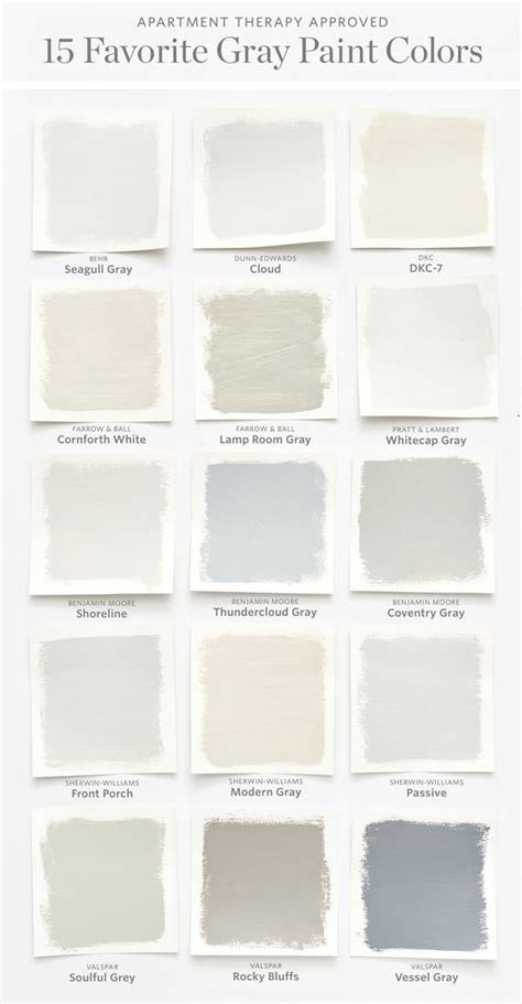 color cheat sheet the 15 most perfect gray paint colors
