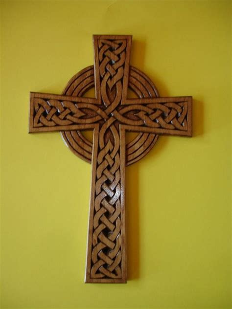 celtic cross wood carving patterns wood art