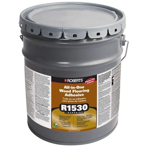 wood flooring adhesive roberts 1530 4 gal all in one wood flooring urethane adhesive and moisture sound barrier r1530