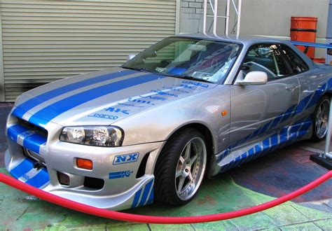 blue nissan skyline fast and furious image nissan skyline gt r r34 from 2f2f jpg the fast