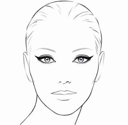 Face Makeup Template Chanel Eye Cat Stencils