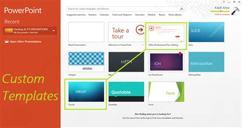 create custom templates installation location  office