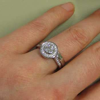 remodelled engagement and wedding ring heirloom london