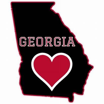 Georgia Heart State Sticker Stickers Shaped Wishlist