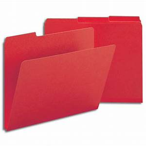 Smead Bright Red Folders