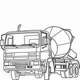 Mixer Cement Coloring Construction Truck Sketch Concrete Trucks Coloringsun Button Using Paper Mixers Grab Welcome Template Sun sketch template