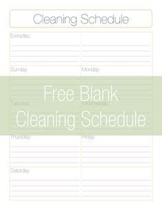 weekly cleaning schedule printable lists labels bath cleaning laundry weekly