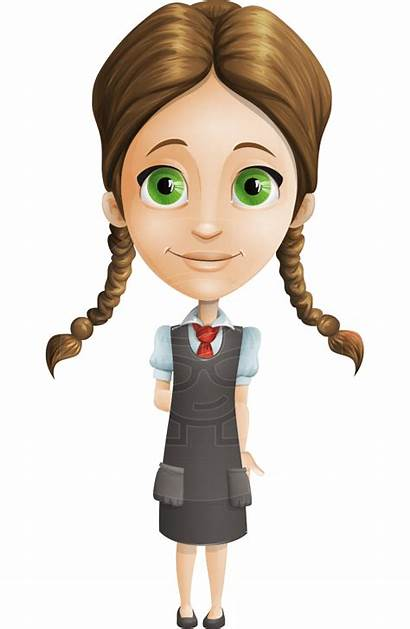 Cartoon Character Uniform Student Smart Characters Transparent