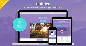 BUILDER A Free Vibrant Web App HTML Template Free