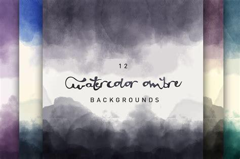 watercolor ombre backgrounds textures creative market