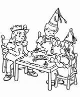 Coloring Table Birthday Pages Gather Netart sketch template