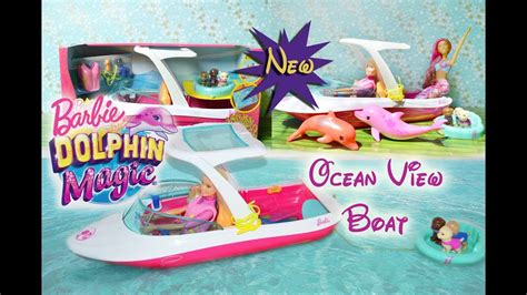 Barbie Ocean Boat by New Barbie Movie Dolphin Magic 2017 Ocean View Boat Review