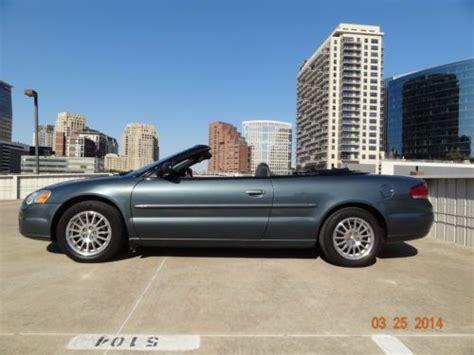 06 Chrysler Sebring by Buy Used 06 Chrysler Sebring Convertible Touring Tx 3ownrs