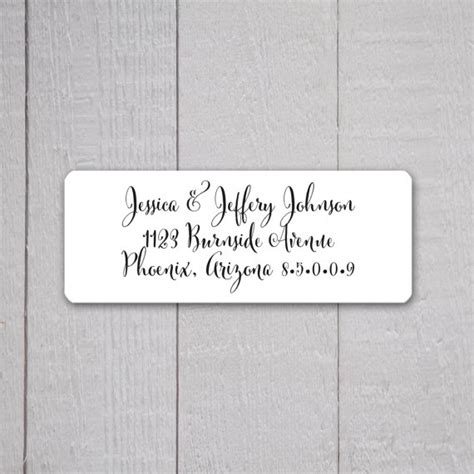 Wedding Invitation Return Address Labels, Wedding Stickers