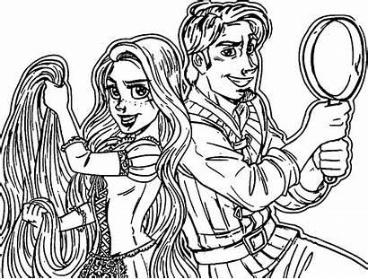 Pages Coloring Rapunzel Flynn