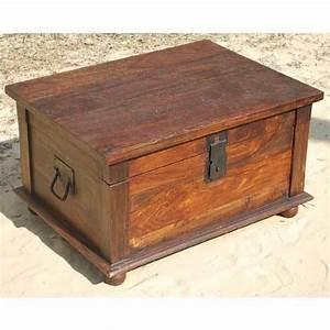 distressed rustic solid wood storage box trunk coffee With solid wood trunk coffee table