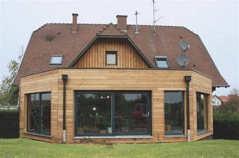 cuisine gris taupe extension de maison ossature bois