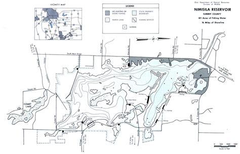 nimisila reservoir map  gofishohiocom  premier