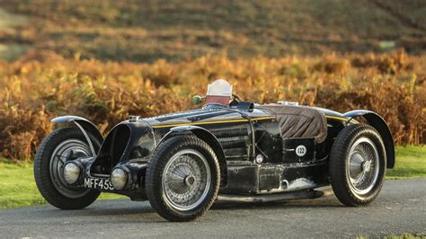 In 1937 it was transformed to a sports car configuration and raced. A 1934 Bugatti Type 59 is up for auction