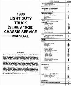 1980 Gmc Repair Shop Manual Original Pickup  Jimmy